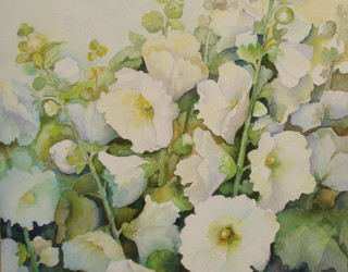 Image Watercolor of flowers by Emma Achleithner
