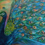 Image of art by Kalyani Pattani - Proud Peacock