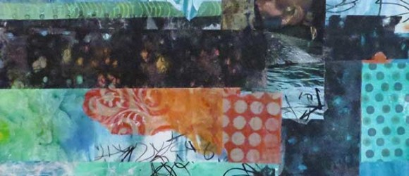 Image of mixed media collage by Jo Reimer