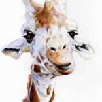 Image of Giraffe painting by Sherry Hanson