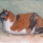 Image of cat painting Lil Lucky-Nancy Cuevas